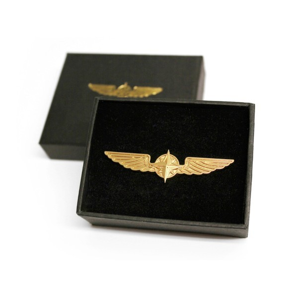 Gold Pilot Wings 3.5 cm