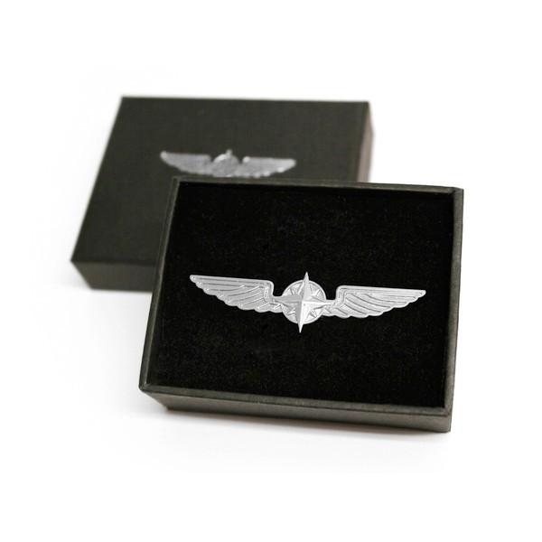 Silver Pilot Wings 5 cm
