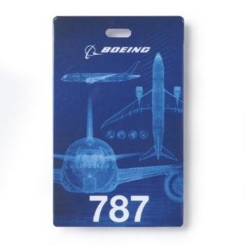 Boeing 787 ID holder + lanyard