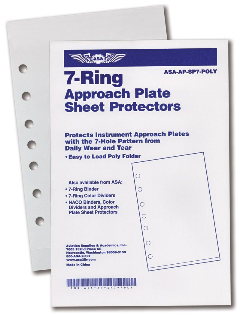 7-Ring Approach Plate Sheet Protectors (10 pcs)