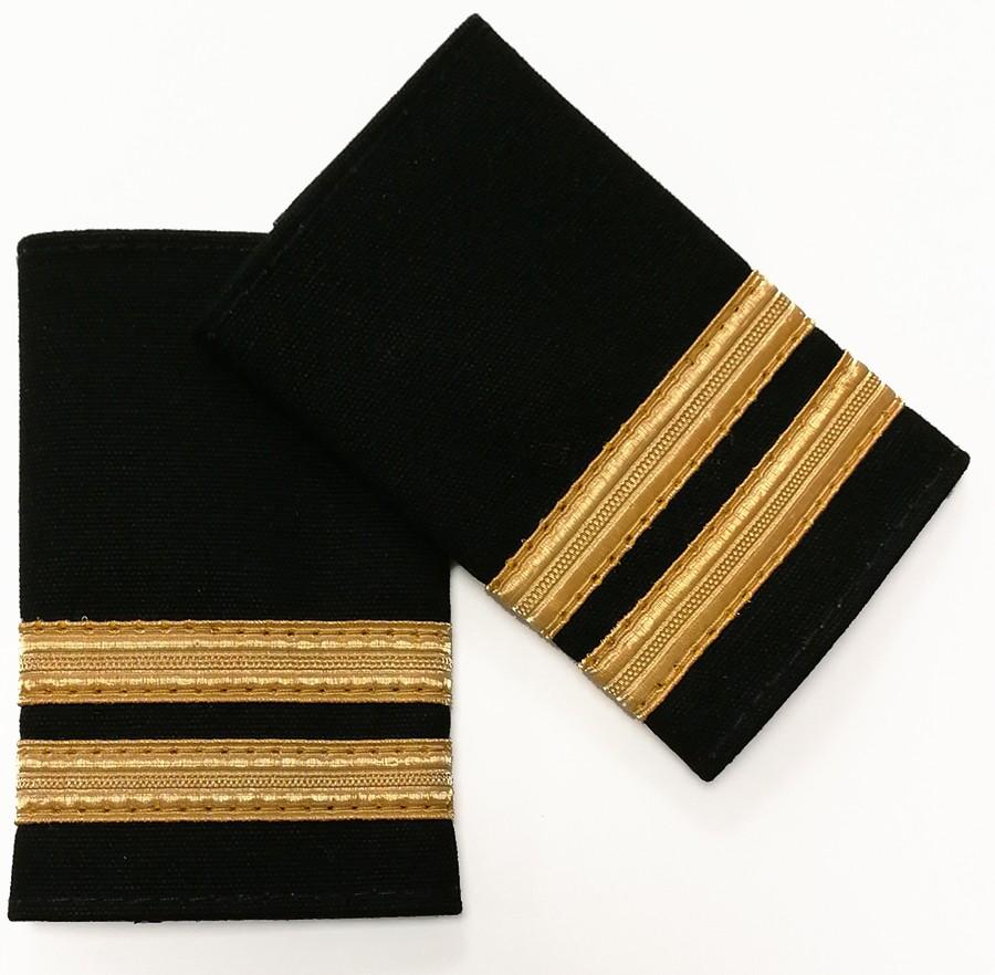 Pilot Epaulettes 2 gold bar (pair)