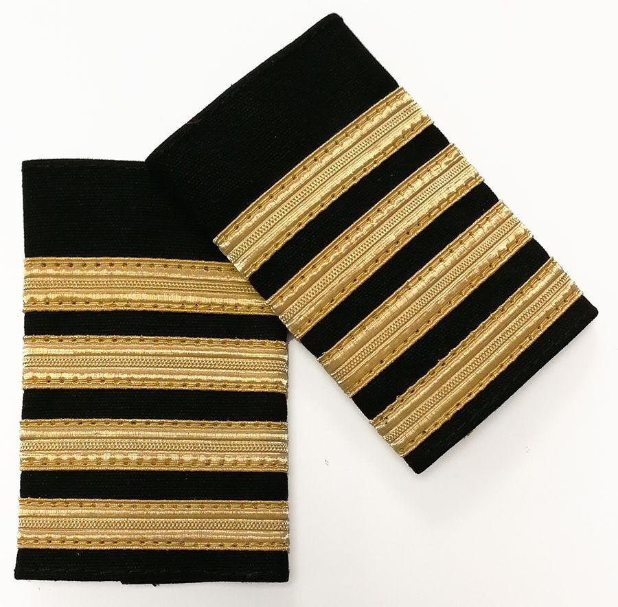 Pilot Epaulettes - 4 gold bar
