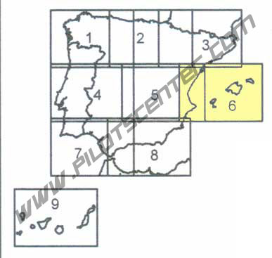 Spain VFR Chart in Eglish 1:500.000 Sheet 6