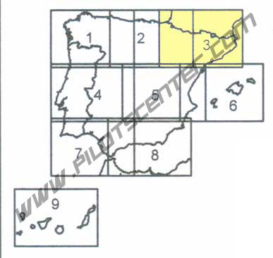 Spain VFR Chart in Eglish 1:500.000 Sheet 3