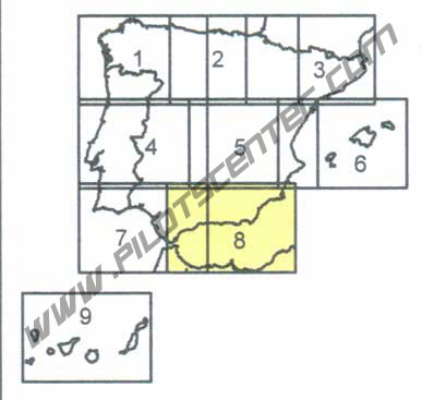 Spain VFR Chart in Eglish 1:500.000 Sheet 8